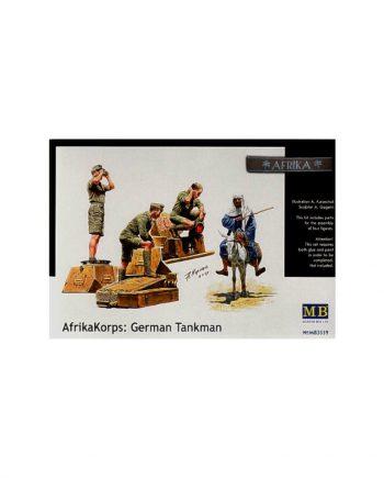 German WWII Tank crew Afrika Korps