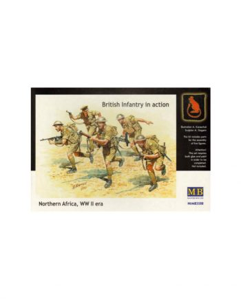 British (WWII) Infantry in action, Northern Africa, WW II era